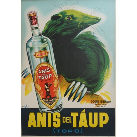 1945 Anis del Topo - Spanish Advertisement - Original Vintage Poster