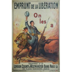 "1918 French WWI Propaganda Poster for War Shares ""Emprunt de la Libération"" - Original Vintage Poster"