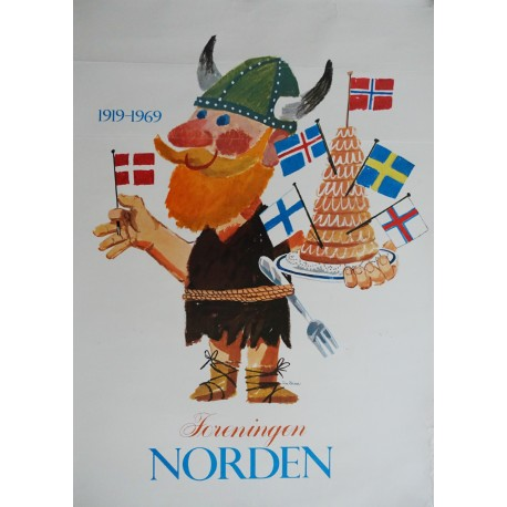 1969 The Nordic Association (Foreningen Norden) - Original Vintage Poster