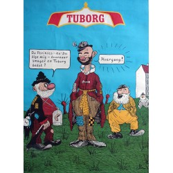 1950 Tuborg ad by Storm P. - Original Vintage Poster