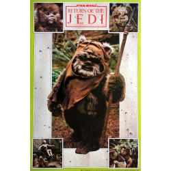 "1983 Star Wars ""Return of the Jedi"" Ewoks - Original Vintage Poster"