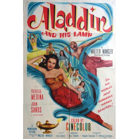 1952 Aladdin And His Lamp Movie Poster - Original Vintage Poster