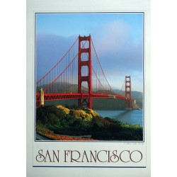 1982 Golden Gate Bridge San Francisco - Original Vintage Poster