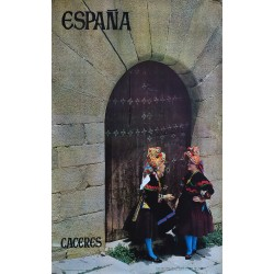 1965 Spain Travel Poster (Cáceres) - Original Vinage Poster