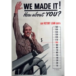 1945 WWII Victory Loans Campaign poster - Original Vintage Poster