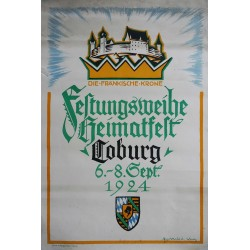 1924 Coburg Castle, Germany - Original Vintage Poster