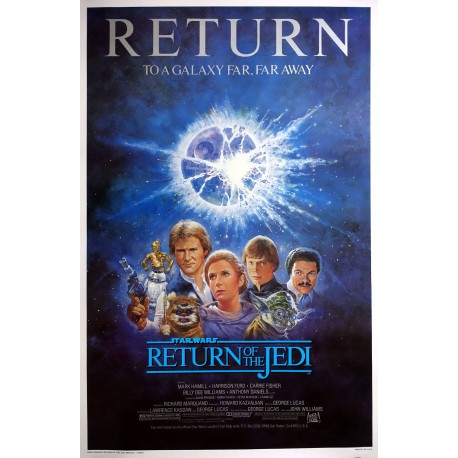 "1985 Star Wars ""Return of the Jedi"" Movie Poster - Original Vintage Poster"
