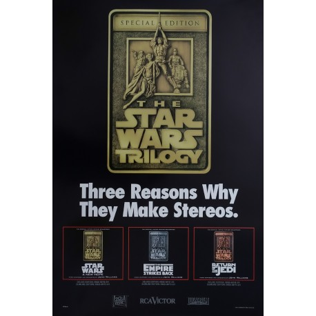 1997 Star Wars Trilogy Music Poster - Original Vintage Poster
