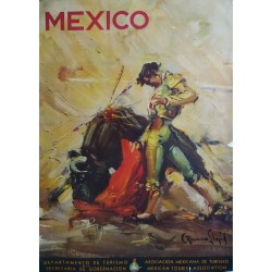 1944 Mexico Travel Poster - Original Vintage Poster