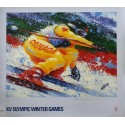 1988 Olympic Winter Games in Calgary, Canada (skiing) - Original Vintage Poster