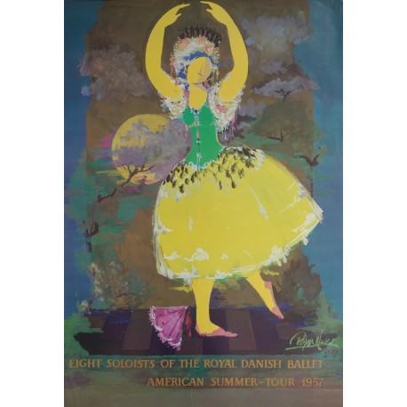 1988 Wiinblad Royal Danish Ballet - Original Vintage Poster