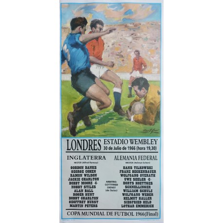 1966 World Cup Final England - Germany - Original Vintage Poster