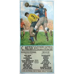 1970 World Cup (Football/Soccer) West Germany - Uruguay - Original Vintage Poster