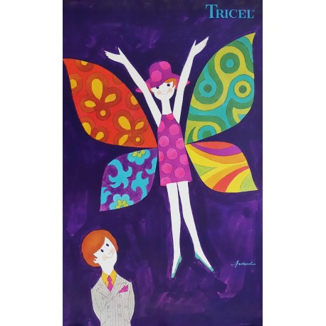 1960s Tricel Advertisement by Ib Antoni - Original Vintage Poster