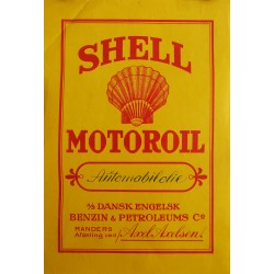 1930s Shell Oil Advertisement (Denmark) - Original Vintage Poster