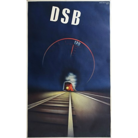 1937 High Speed Train by Aage Rasmussen (Lyntogsplakaten) - Original Vintage Poster