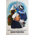 1948 Kronborg - The Maritime and Commercial Museum - Original Vintage Poster