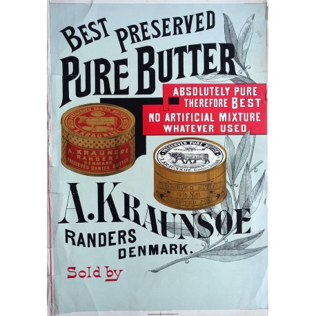 1900s Danish Butter Advertisement - Original Vintage Poster