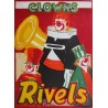1950s Clowns Rivels by Erik Stockmarr - Original Vintage Poster