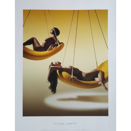 "2002 Nudes on furniture by Verner Panton (""Flying Chairs"") - Original Vintage Poster"