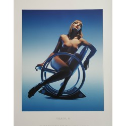 "2002 Nudes on furniture by Verner Panton (""Dondolo"") - Original Vintage Poster"