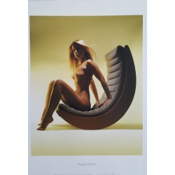 "2002 Nudes on furniture by Verner Panton (""Relaxer 2"") - Original Vintage Poster"