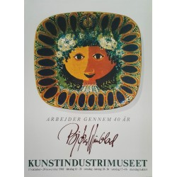 1981 Wiinblad Danish Museum of Art & Design - Original Vintage Poster