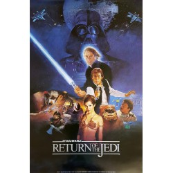 "1983 Star Wars ""Return of the Jedi"" Movie Poster - Original Vintage Poster"