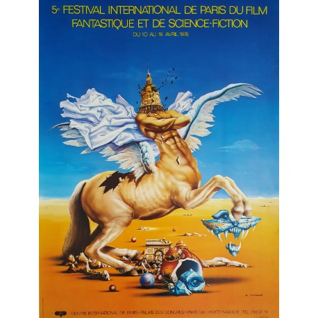 1976 Paris Film Festival - Festival International De Paris Du Film Fantastique et De Science-Fiction - Original Vintage Poster