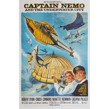 1969 Captain Nemo and The Underwater City 1sh - Original Vintage Poster