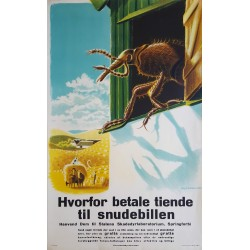 1940s Pest Campaign Poster by Aage Rasmussen - Original Vintage Poster
