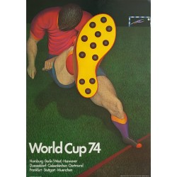 1974 World Cup West Germany - Soccer/Football Championship by Fritz Genkinger - Original Vintage Poster