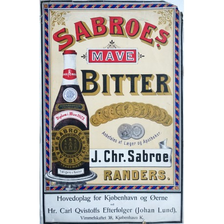 1900s Bitter Advertisement (Denmark) - Original Vintage Poster