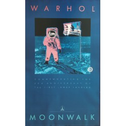 "1989 Andy Warhol ""Moonwalk"" - Commeration to the First Lunar Landing (NASA) - Original Vintage Poster"