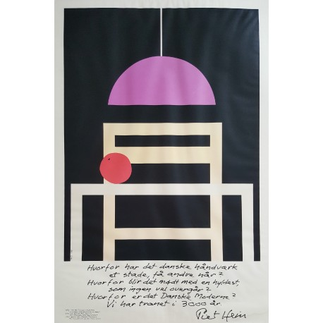1986 A tribute to Danish Furniture Design I - Original Vintage Poster