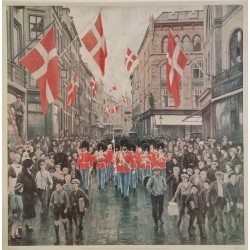 "1981 Paul Fischer ""Royal Danish Life Guard - Original Vintage Poster"