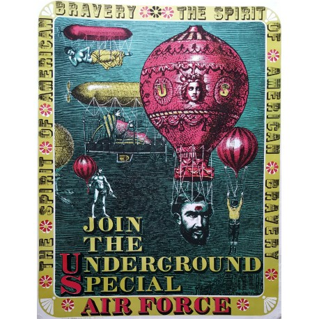 1968 Join The Underground Special Air Force by Alexander - Original Vintage Poster