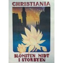 1980s Christiania The Flower in the City - Original Vintage Poster