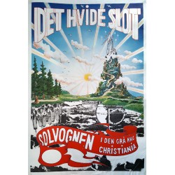 1980 Danish Political Theatre Group of Christiania Solvognen - Original Vintage Poster