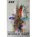 1959 SAS Middle East Airline Travel Poster by Otto Nielsen - Original Vintage Poster