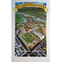 1975 Christiania Copenhagen Travel Poster Map - Original Vintage Poster
