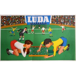 1960 Table Football/Soccer Luda Toy Advertisement - Original Vintage Poster