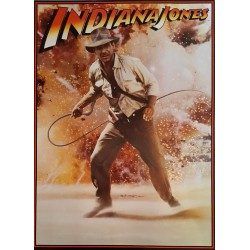 1981 Indiana Jones Harrison Ford Poster - Original Vintage Poster