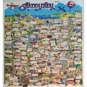 1991 San Francisco Bay Map Silicon Valley - Original Vintage Poster