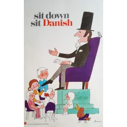 1970s Danish Furniture Quality Control by Antoni (Hans Christian Andersen) - Original Vintage Poster