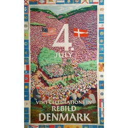1953 4th of July Rebild Denmark - Original Vintage Poster