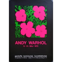1972 Andy Warhol Flower Exhibition Poster - Original Vintage Poster