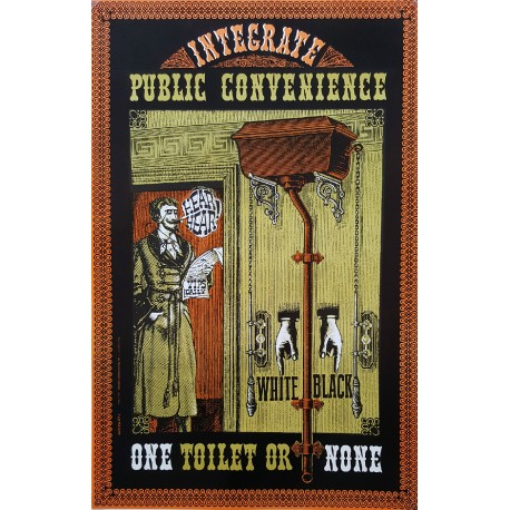 1960s Integrate Public Convenience (Toilet Poster) by Alexander - Original Vintage Poster