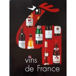 1970s French Wine (Vins de France) Advertisement - Original Vintage Poster