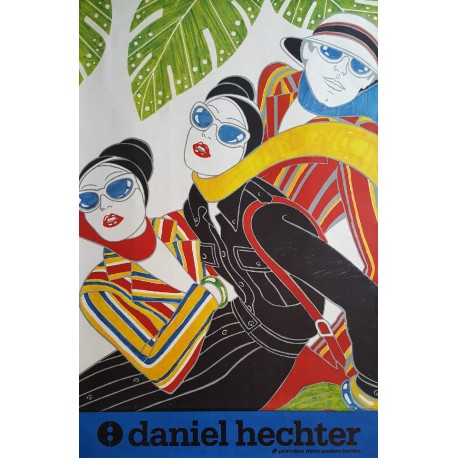 1970s Daniel Hechter French Fashion Poster - Original Vintage Poster